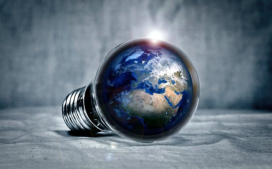 earth in light bulb making homes more energy efficient
